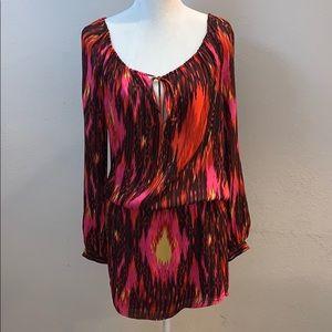 Haute Hippie 100% Silk Boho Mini Dress